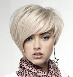 Cute Short Hairstyle for Square Faces