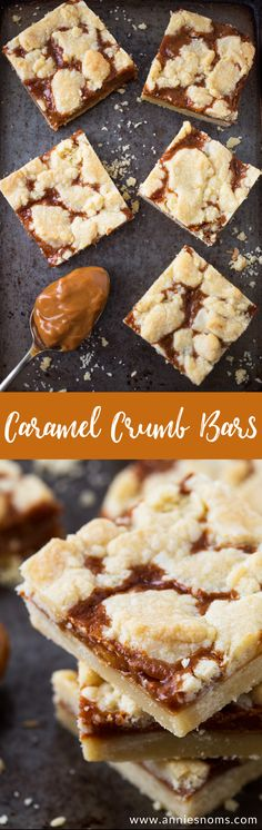 Rich, sweet caramel sandwiched between two layers of buttery shortbread; these crumb bars are just perfect for when you need a sweet fix!