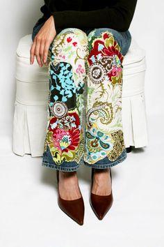 Boho Chic Jeans ~ Inspiration  #boho  #chic