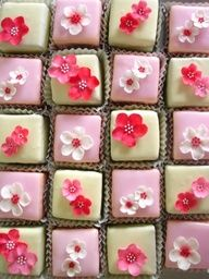 Petit fours I hope these petals aren't difficult to make