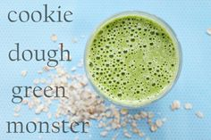 Cookie Dough Green Monster - Made today and was scrumptious! Used 3 cups spinach, 1/2 cup Fage 0%, 1 cup unsweetened vanilla almond milk, 1 tsp vanilla, 1/3 cup oats, 1/4 tsp cinnamon, 2 tsp raw sugar, and 1 sliced frozen banana! Mmmmm!