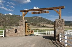 Rustic ranch gate idea :)
