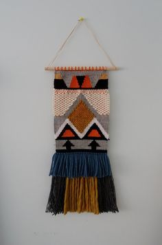 Woven Tapestry Wall Hanging by racheljOK on Etsy Weaving Textiles, Weaving Art, Tapestry Weaving, Loom Weaving, Hand Weaving, Weaving Wall Hanging, Tapestry Wall Hanging, Wall Hangings, Art Textile
