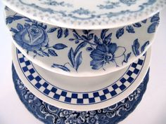 Blauw en wit servies