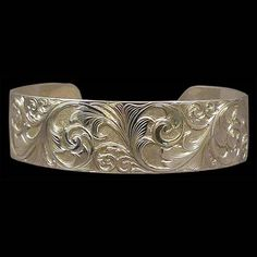 Sterling Silver Cuff Bracelet With Running Leaf Scroll Design Sterling Silver Cuff Bracelet, Scroll Design, Yahoo Search, Custom Jewelry, Image Search, Silver Rings, Bracelets, Youtube, Accessories