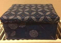 Small trinket box - traditional African fabric