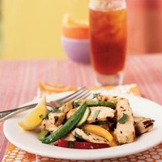 Grilled Chicken and Lemon Salad | MyRecipes.com