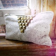THE STUDDED TRIANGLE MAKEUP BAG by scoutandcatalogue on Etsy