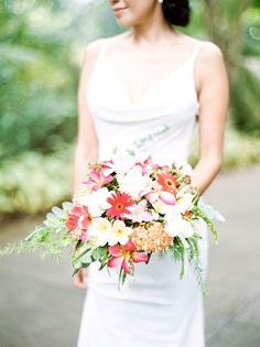 Bright Bouquet with Local Flowers | Brides.com