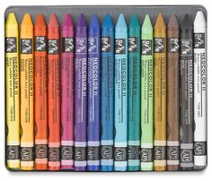 ahhh, Caron d'Ache water color crayons are the best - great for face painting - they wash off with water.