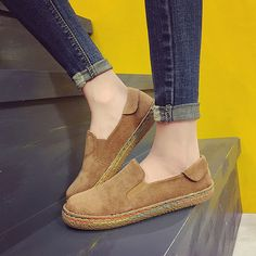 $15.39 Hot-sale Scrub Comfortable Casual Round Flat Shoes For Women - NewChic