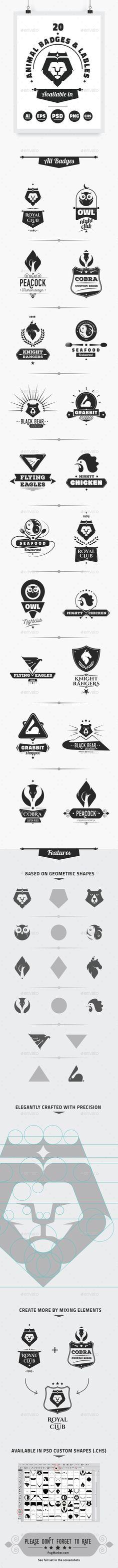 Animal Badges & Labels