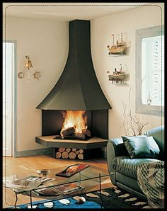 Are you lucky enough to have a living room with fireplace? A fireplace is an architectural structure designed to contain a fire. The idea of a corner fireplace living room is amazing. Narrow Living Room, Mid Century Modern Living Room, Living Room Modern, Living Room Designs, Living Room Decor, Living Area, Small Fireplace, Living Room With Fireplace, Fireplace Design