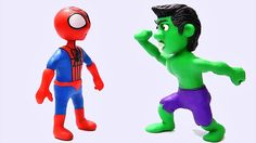 Hulk Fights Spiderman after finding him making fun of him in the Gym. Spiderman needs a shot and then thinks he's ready to show Hulk how strong he is.  Clay Animación - Playdough Stop Motion - Superheroes - Stop Motion videos -  Play doh videos - Plastilina animación - Superheroes   Check Out Our Other Stop Motion Video  Grave Digger Monster Truck Play Doh STOP MOTION Claymation Videos  https://www.youtube.com/watch?v=BDHTMmrWY8s   Subscribe To Us…