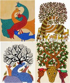 ... of the community and they were entrusted with the responsibility of passing down folk- lore and tribal stories in the form of songs. Gond Art is a ...