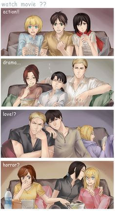 Shingeki no Kyojin- watching movies