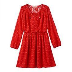 Girls 7-16 Speechless Clip-Dot Dress