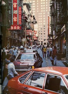 Pops of red in Chinatown (1970's)