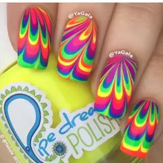 Rainbow water marble nail art nails hair pinterest water water marble by yagala from nail art gallery prinsesfo Image collections