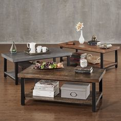 TRIBECCA HOME Cyra Industrial Reclaimed Rectangular Coffee Table | Overstock.com Shopping - The Best Deals on Coffee, Sofa & End Tables