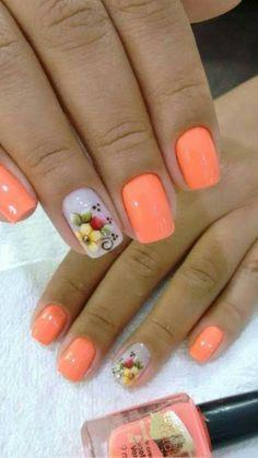 Flower Nail Art, Nails Inspiration, Gel Nails, Nail Designs, Lily, Easy Nails, White Nail Beds, Nail Jewels, Colorful Nails