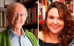 Javier Darío Restrepo y Marcela Turati reciben el Reconocimiento a la Excelencia del Premio Gabriel García Márquez de Periodismo. #PremioGGM:  http://www.fnpi.org/premioggm/2014/09/ganador-de-la-categoria-excelencia/