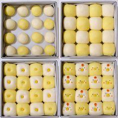 Chicken and chicken chick bread * recipe * Pretty Cakes, Cute Cakes, Food Design, Cute Desserts, Dessert Recipes, Bread Recipes For Kids, Japanese Milk Bread, Cute Baking, Bread Shaping