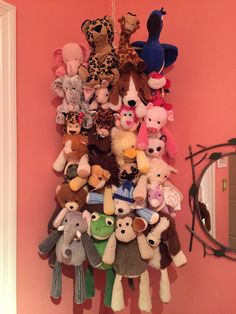 Ikea's Komplement multi use hanger. Used to hang her teddy bears. She loves it.