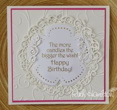Blog tonic: Happy Birthday card - from RUTH