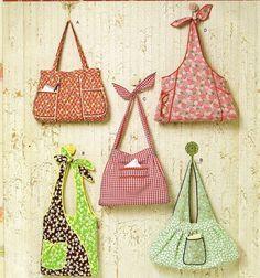 Vintage Apron-Inspired Handbags Sewing Pattern  by KeepsakesStudio
