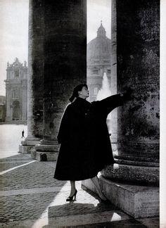 Fashion design by Simonetta Visconti, 1950s.