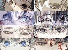 Anime Boy Sketch, How To Draw Anime Eyes, Yandere Anime, Eyes Artwork, Drawing Expressions, Identity Art, Drawing Poses, Anime Fantasy, Eye Art