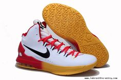 59af4fe015b Nike Zoom KD V Kevin Durant Basketball Shoes In Red Yellow Gradient  Colorways
