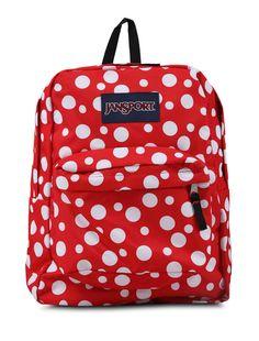 Superbreak Backpack Red White by JanSport.