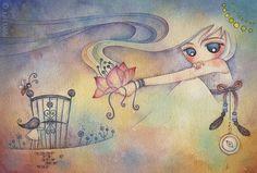 daydream   19cm x 28cm / watercolor on paper / 2010   Juri Ueda   Flickr