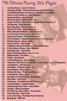 This is a playlist of popular 1920s songs. Many of these songs/ artists are still known today.