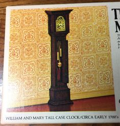 William and Mary Tall Clock Kit by the House of Miniatures in One Inch Scale William And Mary, Grandfather Clock, Wooden Dolls, One Inch, Queen Anne, Weights, Colonial, Wax, Scale