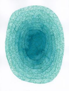 Circles Original Watercolor Paitning, Turquoise Abstract Watercolour, Abstract Art, Modern Watercolor Painting by KlikaBoutique on Etsy