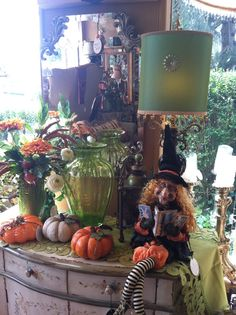 Fall Decorations - great witch !