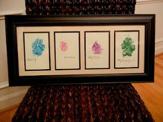 Doggie Paw Print Art! My friend Amber made this!! :) SUPER CUTE!