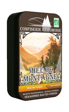 Bonbons des Vosges bio au miel de montagne