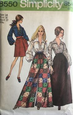 Simplicity Sewing Patterns, Vintage Sewing Patterns, Clothing Patterns, Pattern Sewing, Black Milk Clothing, Vintage Outfits, Vintage Fashion, Look Hippie Chic, Boho Hippie