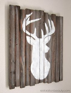 Restoration Beauty: DIY Rustic Deer Head Silhouette {no fancy machine needed!}
