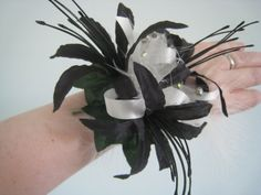 Wrist Corsage Black Nerine Wedding Prom Anniversary. by RoseandPin, £12.50