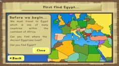 Ancient Egypt - Interactive Learning Sites for Education - Social Studies Games