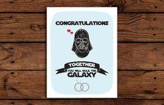 Star Wars Wedding Card Printable // by SomebodyLovedShop on Etsy, $2.00