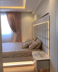 Bedroom Bed Design, Home Room Design, Sofa Furniture, Luxury Furniture, Bed Headrest, Small Room Decor, House Rooms, Closet Organization, Beds