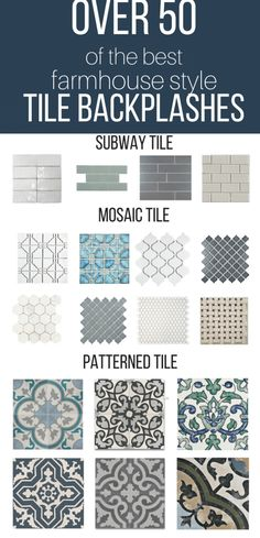 Over 50 of the best farmhouse style tile backsplash ideas for your kitchen, bathroom, or laundry room.