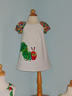 Very Hungry Caterpillar Lola Peasant Dress with by RennyClothing, $45.00