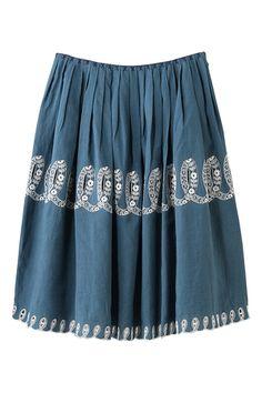 mina perhonen ribbon 刺繍スカート